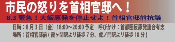 8.3金曜官邸前行動